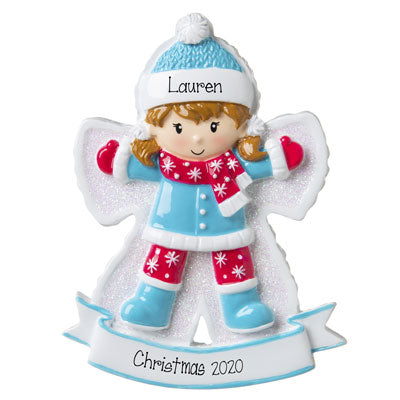 Girl SNOW ANGEL~Personalized Christmas Ornament