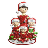 Single Dad with 3 Kids-Personalized Ornaments