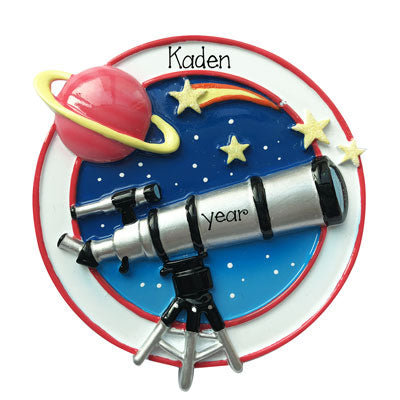 Telescope-Astronomy-Personalized Christmas Ornament