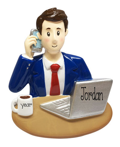 Male Banker-Assistant-Office Manager-personalized ornament