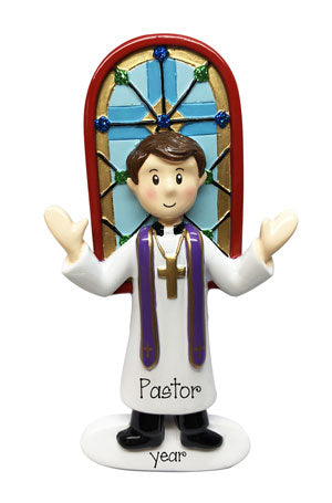 Male Minister, Priest, Pastor-personalized ornament