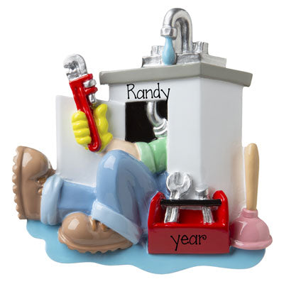 PLUMBER Under the Sink - Personalized Ornament