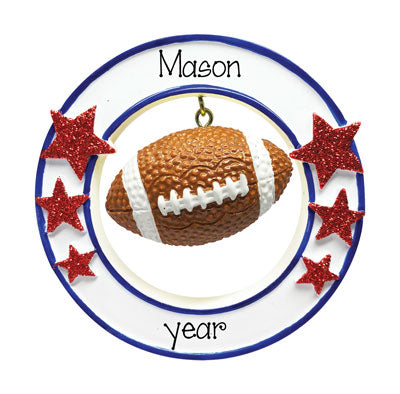 Personalized 3-Dimensional Football Ornament