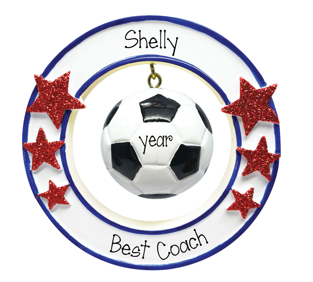 Personalized 3-Dimensional Soccer Ornament