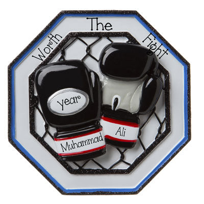 Personalized 3-Dimensional Boxing Ornament