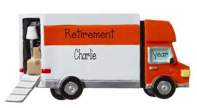 Retired and Moving- Personalized Ornament