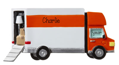 Moving Truck- Personalized Ornament