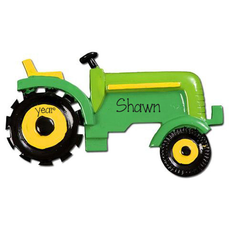 Green Tractor-Personalized Ornament