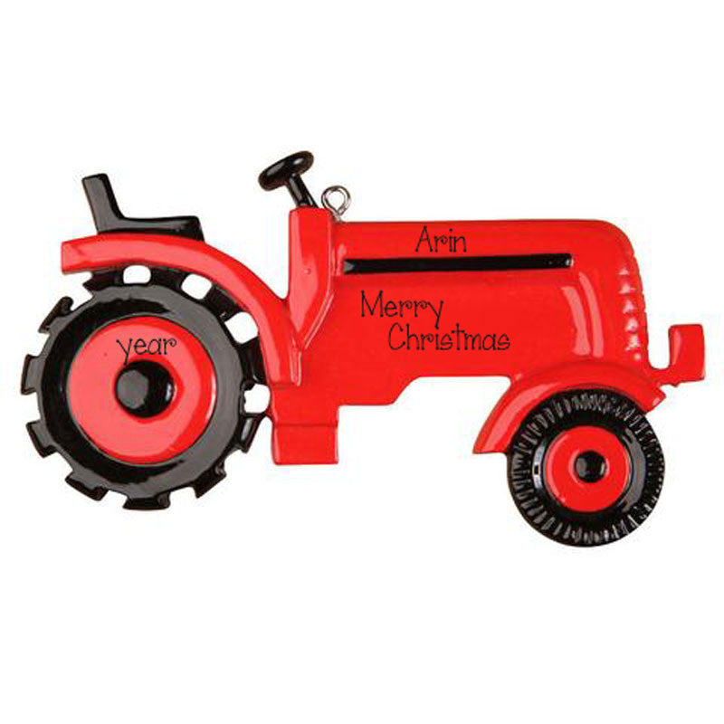 Red Tractor Ornament-Personalized Ornament