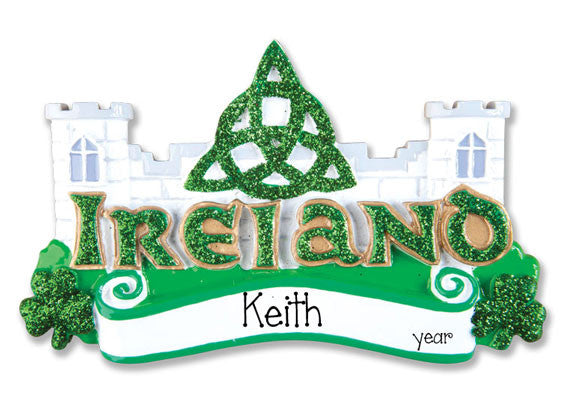 IRELAND - Personalized Christmas Ornament