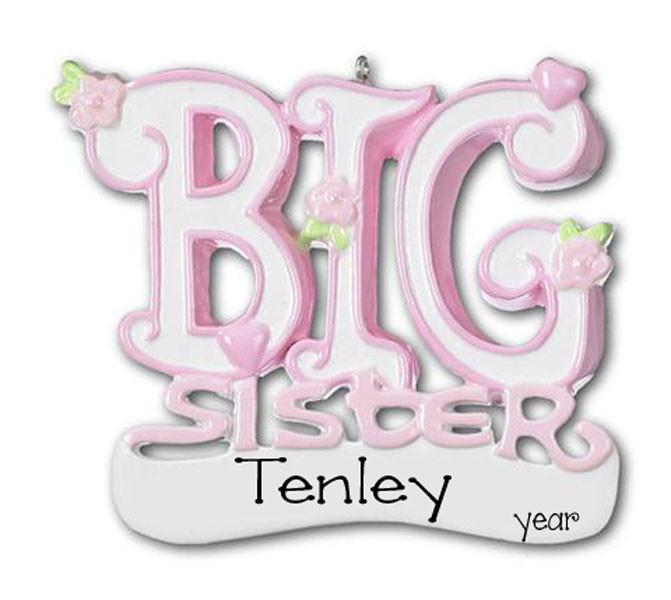 BIG SISTER - Personalize Ornament