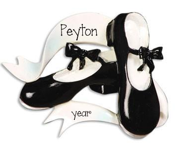 Black Tap Shoes Personalized Ornament
