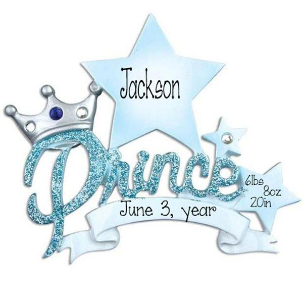 BABY BOY PRINCE - Personalized Ornament