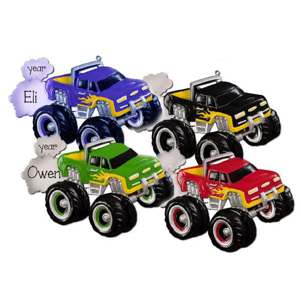 MONSTER TRUCK - Personalized Ornament