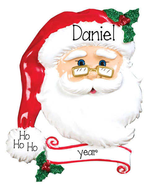 SANTA FACE - Personalized Ornament