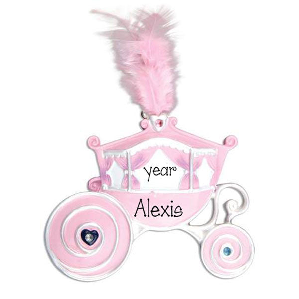 PINK PRINESS CARRIAGE / MY PERSONALIZED ORNAMENTS