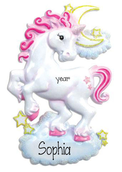 UNICORN - Personalized ChristmasOrnament
