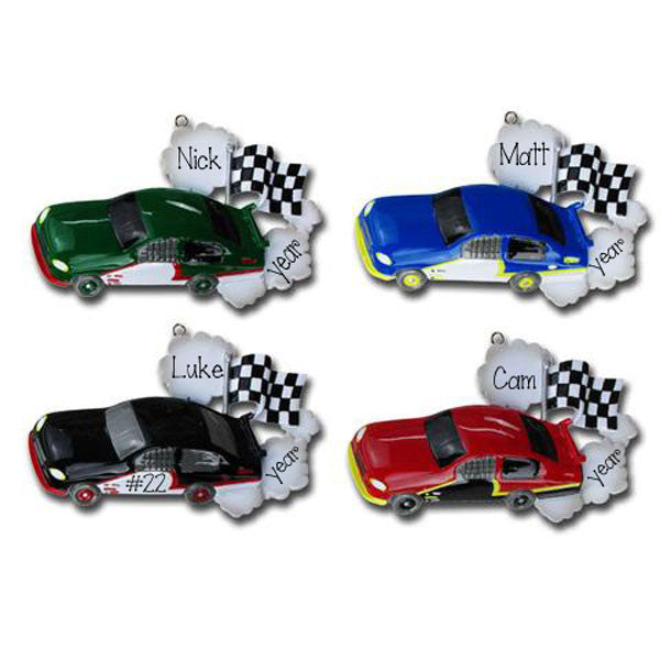 RACE CARS - Personalized Ornament