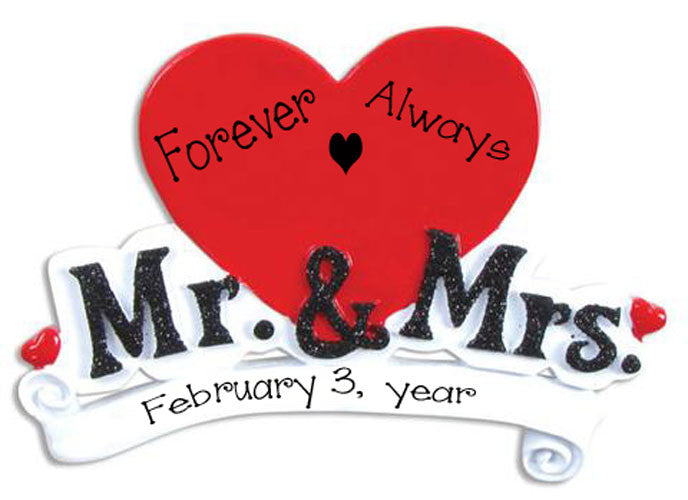 MR & MRS WEDDING - Personalized Ornament
