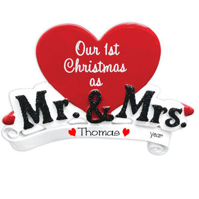 Our 1st Christmas as Mr. & Mrs. ~ Personalized Christmas Ornament