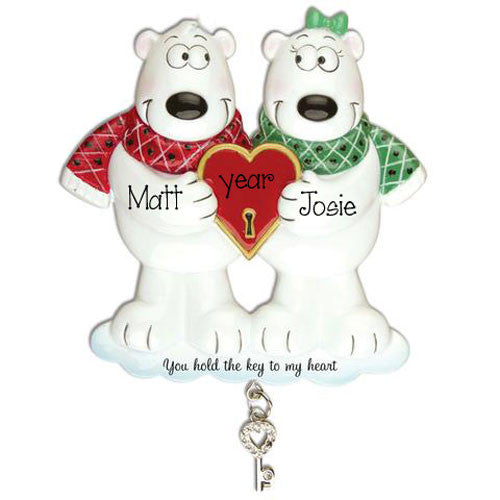 YOU HOLD THE KEY TO MY HEART COUPLE / my personalized ornaments
