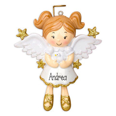 beautiful little girl angel with wings / MY PERSONALIZED ORNAMENTS