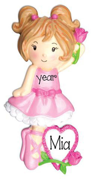 LITTLE GIRL BALLET -Personalized Ornament