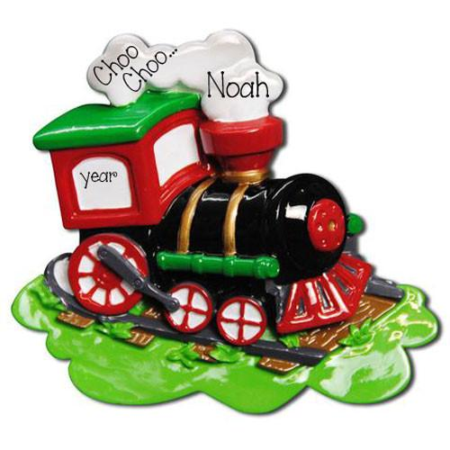 BLACK TRAIN - Personalized Ornament