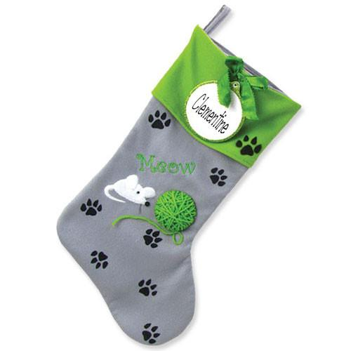 Cat Personalized Christmas Stocking