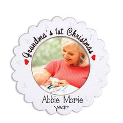 GRANDMA'S 1ST CHRISTMAS PHOTO FRAME/ MY PERSONALIZED ORNAMENTS