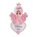 PRINCESS and her Carriage ~Personalized Christmas Ornament