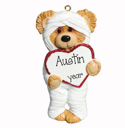 "Personalized ""BROKEN BEAR"" Ornament"