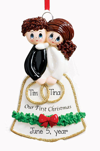 OUR 1st CHRISTMAS / WEDDING Ornament