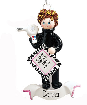 "HAIR STYLIST ""A CUT ABOVE THE REST""~Personalized Ornament"