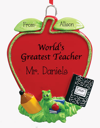 WORLD'S GREATEST TEACHER Ornament