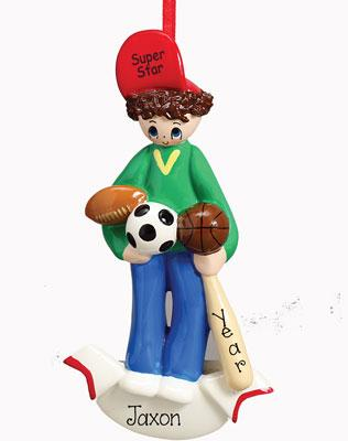 BOY'S ALL AROUND SPORTS Ornament