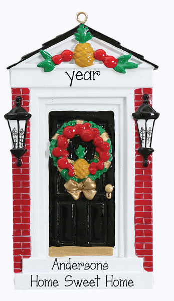 ELEGANT BLACK DOOR - Personalized Ornament