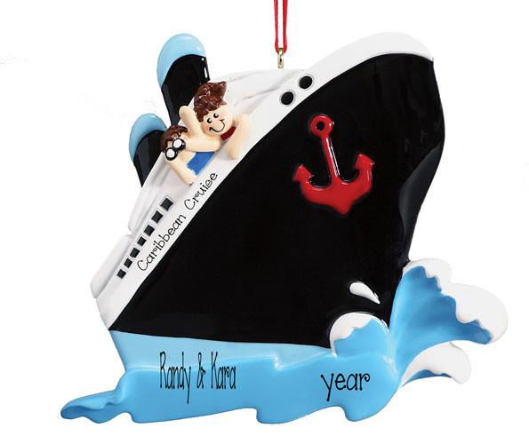 COUPLES CRUISE SHIP Ornament