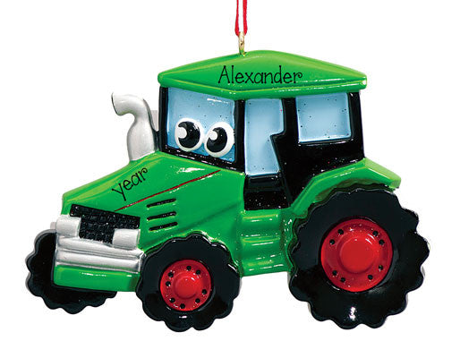 FARMING GREEN COMBINE - Personalized Ornament