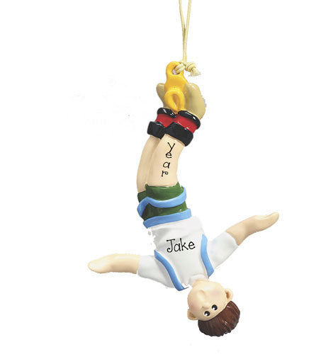 MALE BUNGEE JUMPING- Personalized Ornament