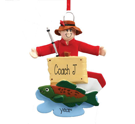 FISHING Personalized Ornament For Coach