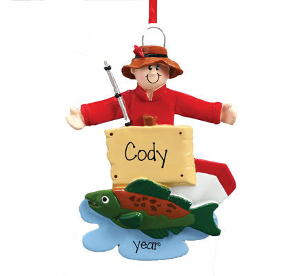 FISHING - Personalized Ornament