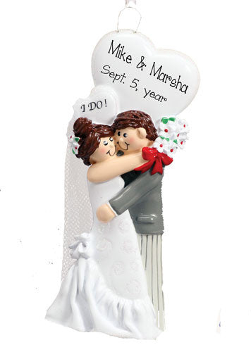 "WEDDING ""I DO"" ~Personalized Christmas Ornament"