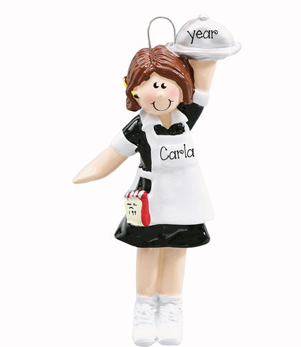 WAITRESS~Personalized Christmas Ornament