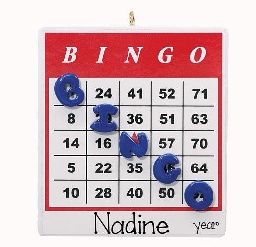 BINGO CARD ORNAMENT