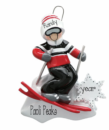 SNOW SKIING ORNAMENT FOR HIM/ MY PERSONALIZED ORNAMENTS