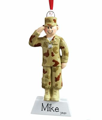 ARMY MALE CHRISTMAS ORNAMENT/MY PERSONALIZED ORNAMENT