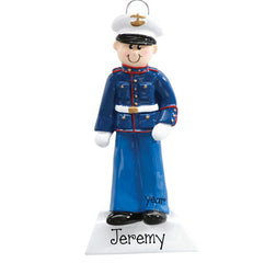MARINE CHRISTMAS MALE ORNAMENT/MY PERSONALIZED ORNAMENT