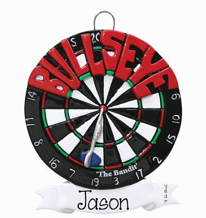 BULLSEYE DART BOARD Ornament