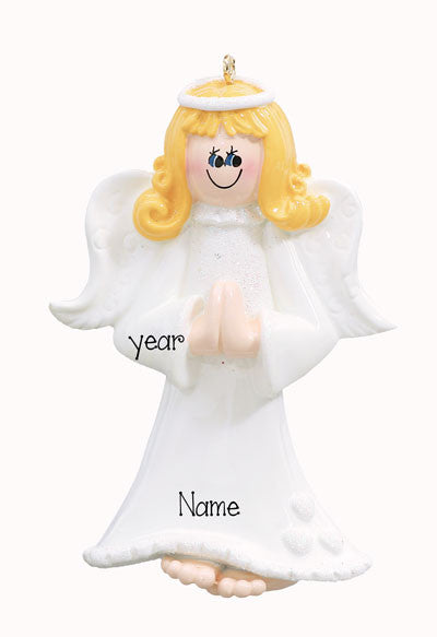 Praying Hands Angel-Personalized Ornament